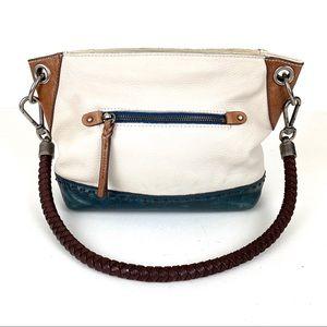 the Sak Leather Bag Shoulder Blue